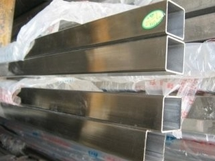 China Welded Stainless Steel Square Pipe For Staircase Railings / Shutters /  Railings supplier