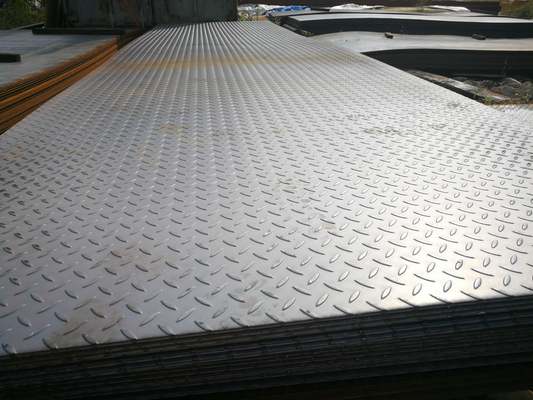 China ASTM A36 Checkered Carbon Steel Plate ASTM B209 Thickness 2mm - 100 Mm supplier