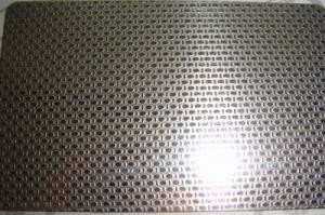 China SS 316L Grade Etching Stainless Steel Sheet Metal With Surface Linen Pattern supplier