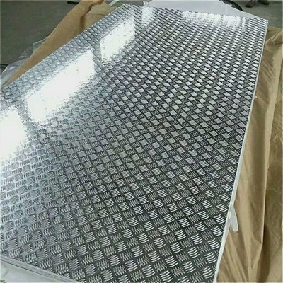 18 Gauge Chequred Polished Aluminum Sheet , 6061 Aluminum Checkered Sheet