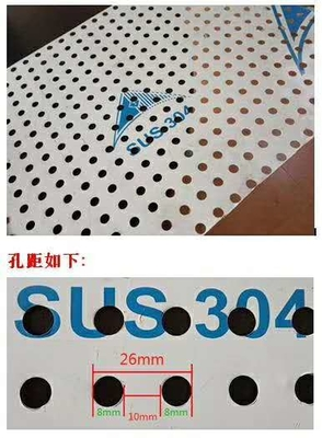 Hole 1-30mm Laser Micro Perforated Stainless Sheet 304/316L Stainless Steel Panels