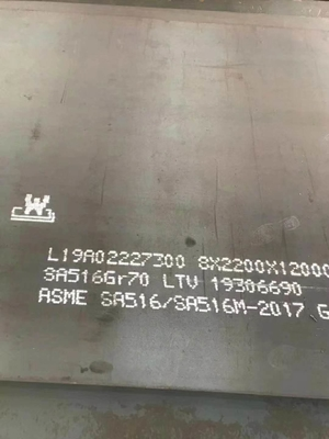 ASME SA516 Grade 70 Carbon Steel Plate , Hot Rolled Steel Plate For Boiler