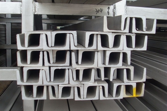 China Cold Rolled Stainless Steel / SS U Channel A554 304 304L For Construction supplier