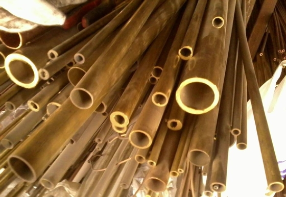 C44300 / CuZn28Sn1As / CZ111 Yellow Copper Pipes , Seamless Brass Tube
