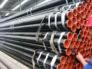 China API 5L Astm A53 A106 Seamless Steel Pipe With Black Coating Bevelled End And Caps company