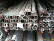 China 201 stainless steel welded pipe polished outside  , 201 mirror polished SS square pipe factory