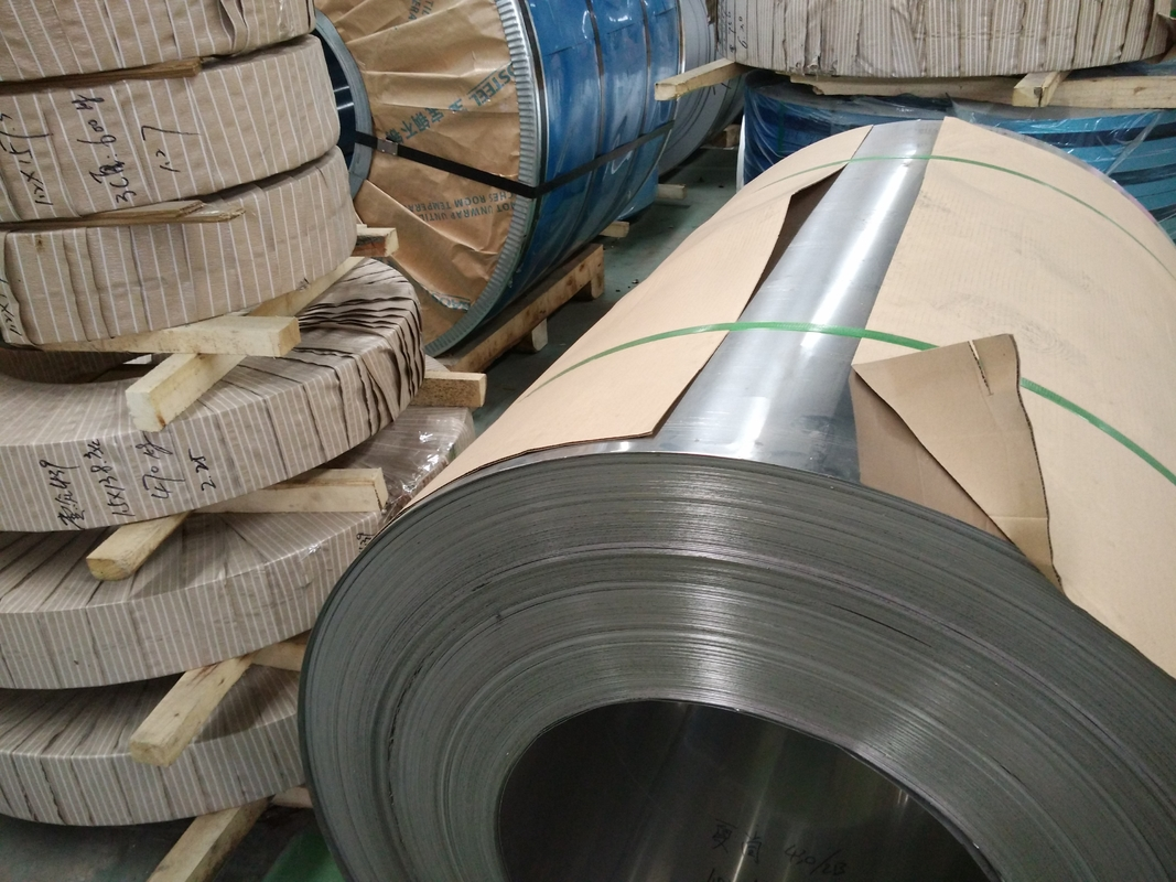 201 Cold Rolled Stainless Steel Coils With Half Copper