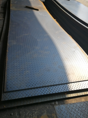 Tear Drop Chequered MS Carbon Steel Plate A36 Q235 3mm Thickness