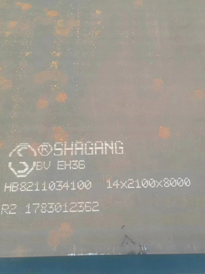 ASTM AH36 CCS Ship Steel Plate , Mechanical Properties LR Shipbuilding Plate