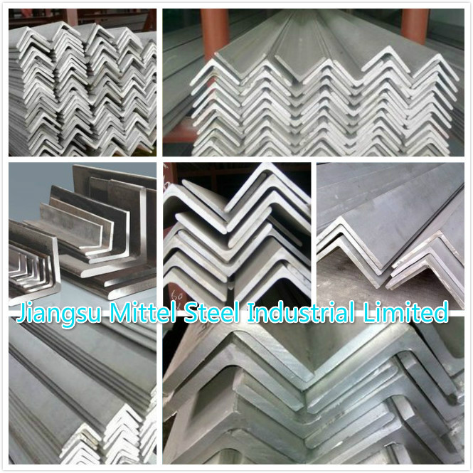 Hot Rolled High Strength Galvanized Steel Angle For Building Materials , SS Angle Bar