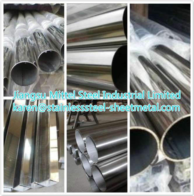 ISO Stainless Steel Welded Pipe with Various Grade Surface Treatment