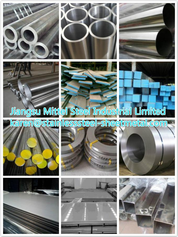 Welded Stainless Steel Square Pipe For Staircase Railings / Shutters /  Railings