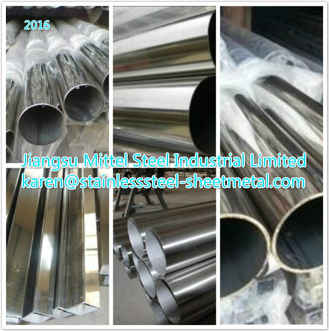 0.15-3 mm Thickness Stainless Steel Welded Pipe for Auto , stainless steel round tube