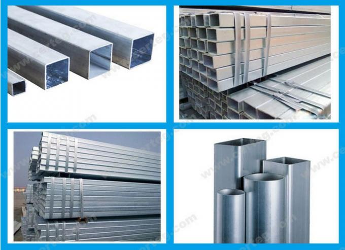 Galvanized steel/gi rectangular hollow section weight/carbon steel pipe price