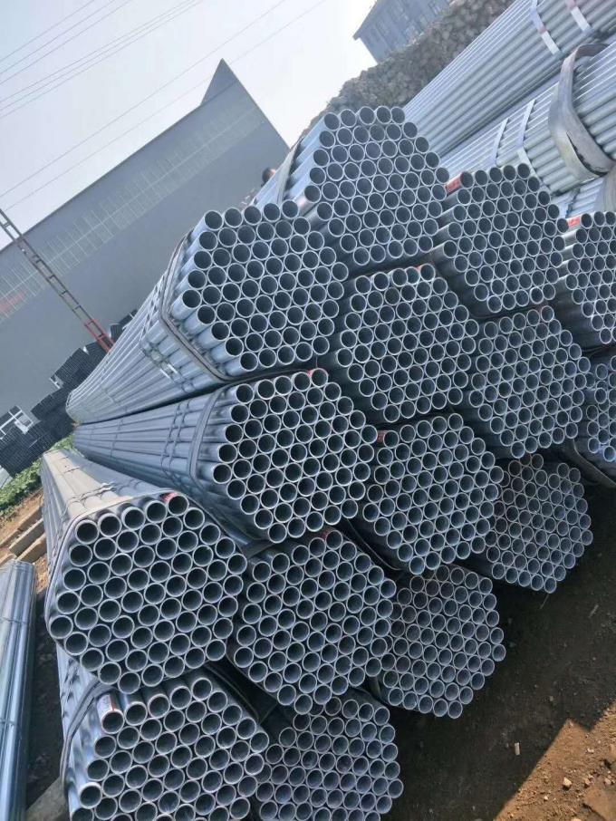 Electrical Hdg Hot Dipped Galvanzied Round Steel Pipe / Carbon Steel Pipe For Structure